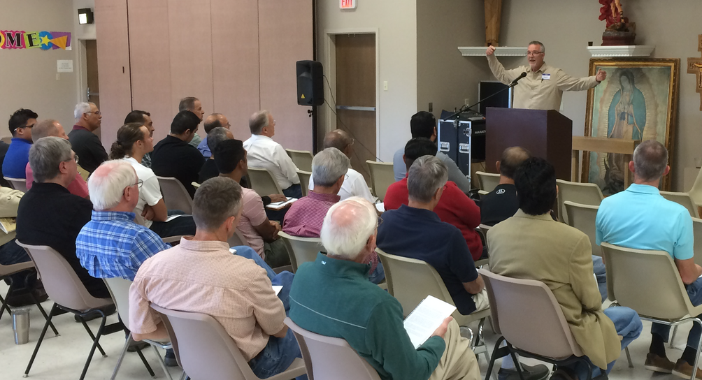 ​           Mike Allison speaks at Our Lady of Victory Fatherhood Retreat ​
